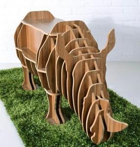 Kệ gỗ Tê Giác decor - VTH 2